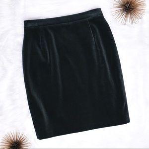 Escada Margaretha Ley Velvet Cotton Pencil Skirt